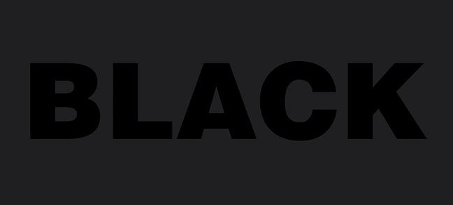 black over black